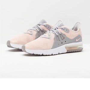 Pink/Gray Nike Air Max Sequent 3 Sneakers
